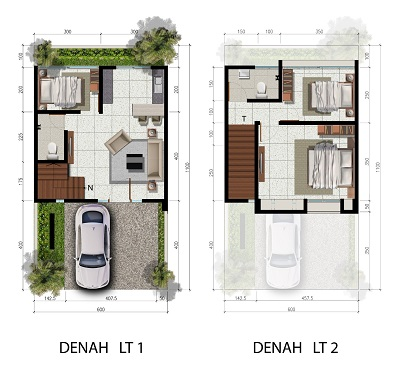 Tipe 6 x 11 Spesifikasi 3 Bedroom